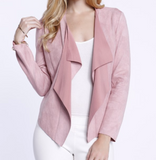 Faux Suede Pink Jacket by Dolce Cabo