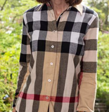 Fringed Flannel Tunic