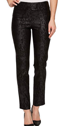 Black Python Leather Inspired Pants