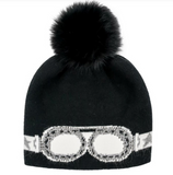Crystal Goggle Beanie Hat with Pompom Mitchie's Matching