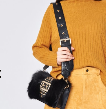 Real Leather and Fur Bag - Sold Out