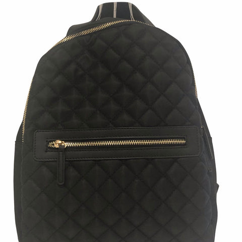 Quilted Black Backpack