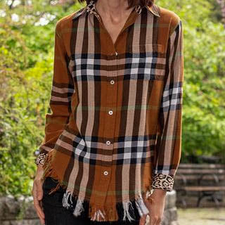Fringed Flannel Shirt