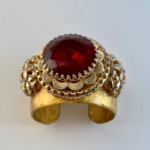 Evocateur Vintage Round Broach Cuff