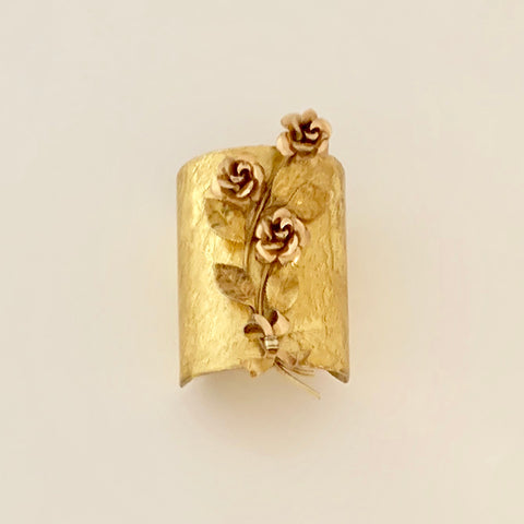 Evocateur Vintage Flower Broach Cuff