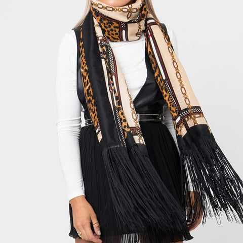 Light Weight Annika Scarf with Extra long Fringes