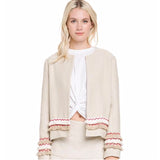 Free the Roses Beige/Cream Jacket