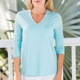 V-Neck 3/4 Sleeve Top by Jean-Pierre Klifa
