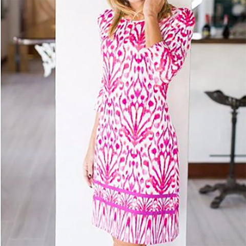 Ikat Daphne Dress by French Designer Jean-Pierre Klifa