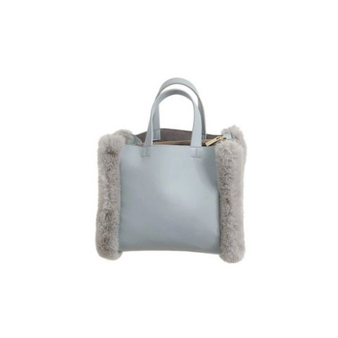 Mofu Bag with Faux Fur Details
