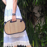 Handmade in Cambodia Weaved Saraye Medium Traveler Bag