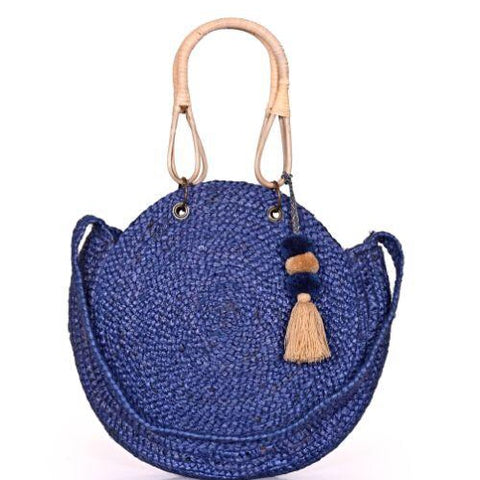 Blue Allure Soft Jute Tote