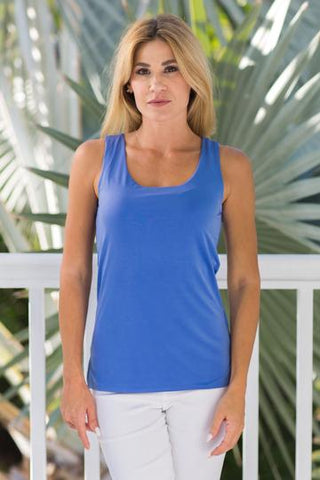 Solid Colors light weight comfortable tank top by French Designer Jean-Pierre Klifa. Non wrinkle and machine washable, it is a great addition to any outfit.  Perfect for traveling.