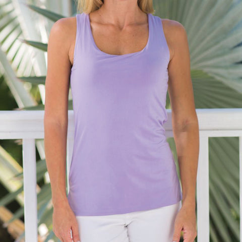 Solid Colors light weight comfortable tank top by French Designer Jean-Pierre Klifa. Non wrinkle and machine washable, it is a great addition to any outfit.  Perfect for traveling