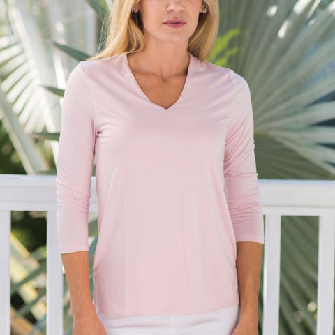 Solid Colors light weight comfortable top by French Designer Jean-Pierre Klifa. Non wrinkle and machine washable, it is a great addition to any outfit.  Perfect for traveling.
