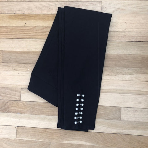 Stretch Pants with Pearl Details