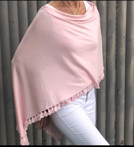 Elegant Poncho with Tassels