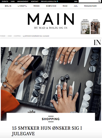 VERA VEGA Willow Double ring featured in Danish IN fashion Magazine
