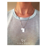 Signet Necklace and Mini Diamond signet by VERA VEGA - www.veravega.com