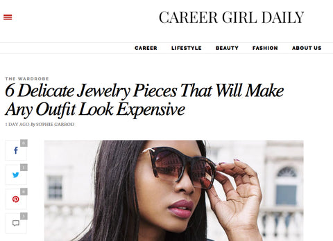6 Delicate jewellery pieces by Career Girl Daily