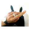Foursome ring - Silver/Rhodium/Gold - VERA VEGA - 3