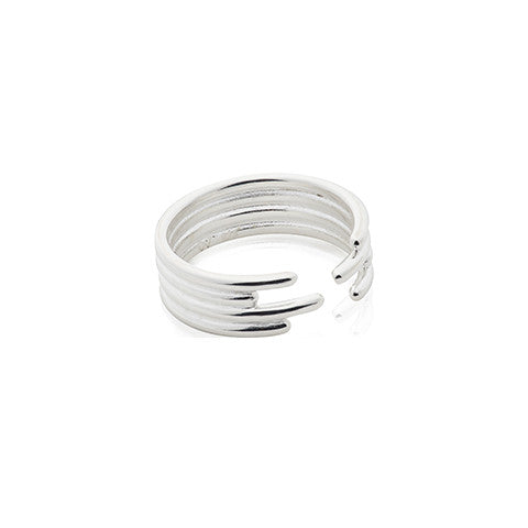 Foursome ring - Silver/Rhodium/Gold - VERA VEGA - 1