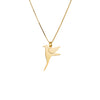 Free As A Bird Necklace - Silver/Gold