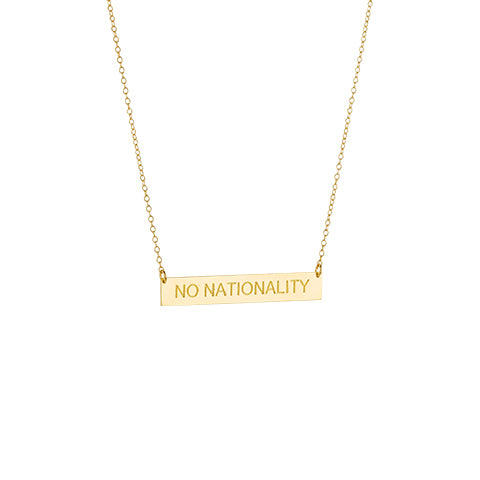 NO NATIONALITY Necklace - Silver/Gold