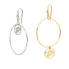 One World Earring - SILVER/GOLD - INSIDE or OUTSIDE (PIECE)
