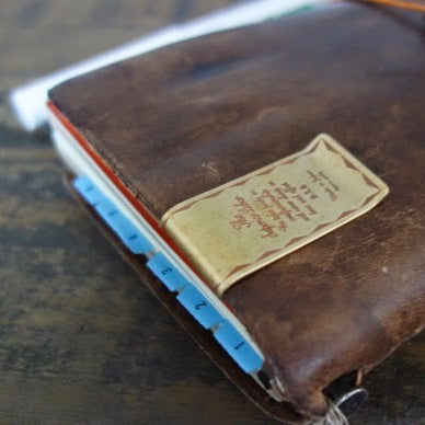 The Superior Labor Money Clip + Traveler's Notebook