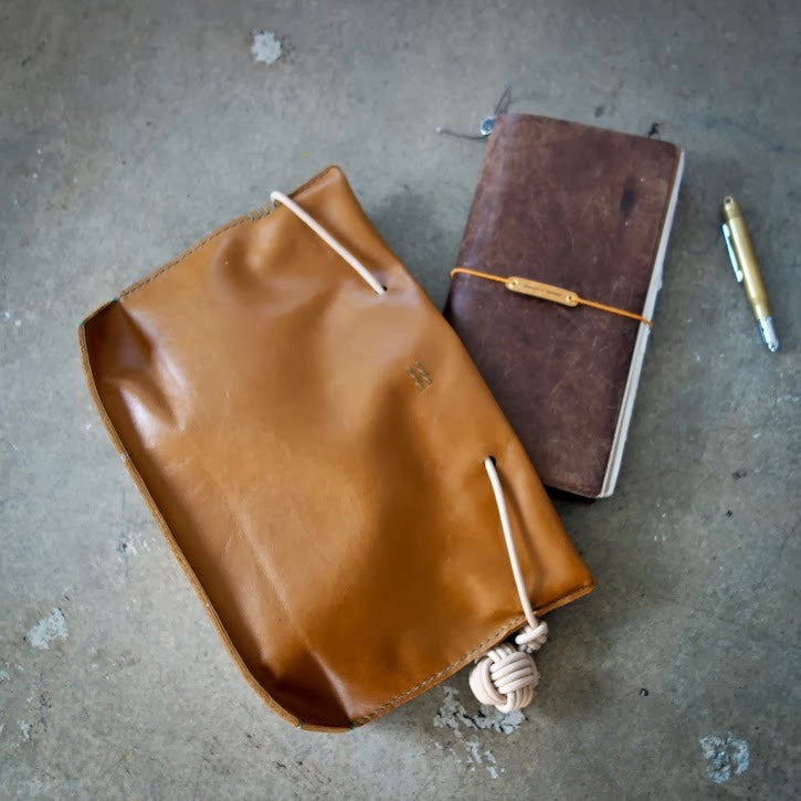 k(not) leather clutch by clau... adding a new color to the shop!