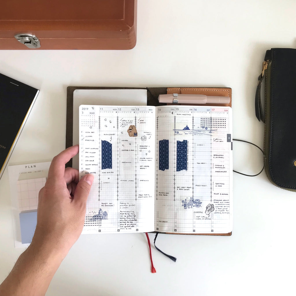 Jibun Techo x Traveler's Notebook by Emil