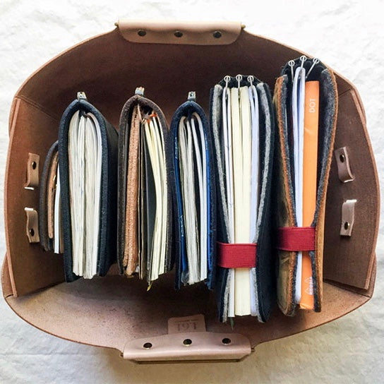 Gert's well loved journal/planner collection (IG: pepperandtwine)