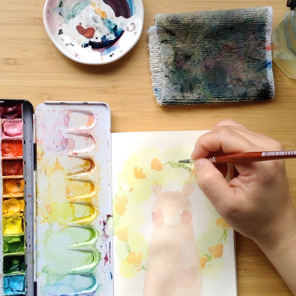 Watercolor with Me // On A Rainy Afternoon with Ame