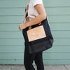 TSL 2-way Tote / Black canvas with Black paint