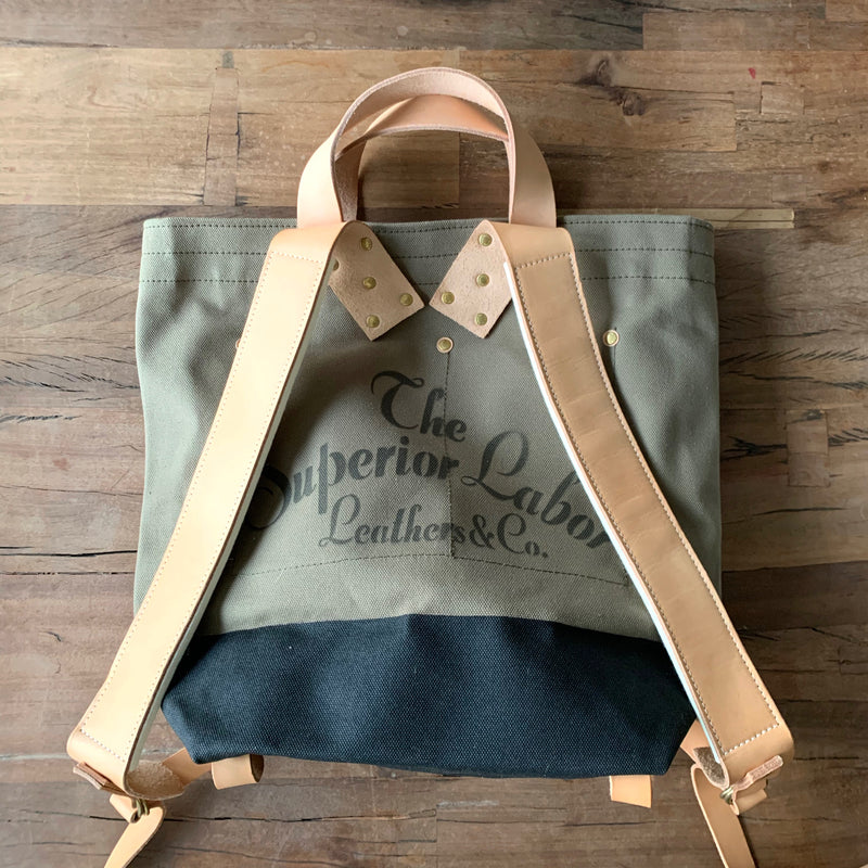 2-way Backpacker // Khaki with Black paint