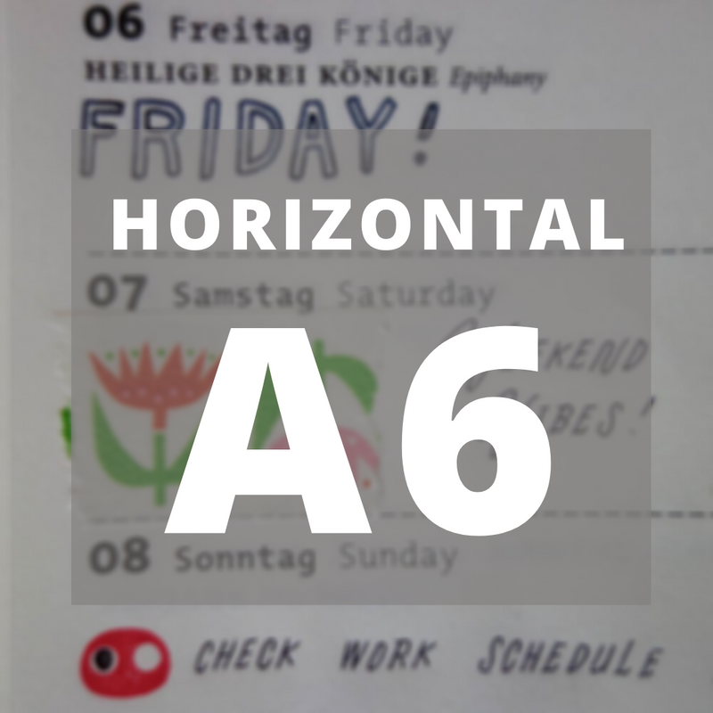Roterfaden // 2021 Weekly Horizontal