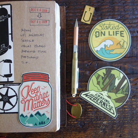 Asilda Adventure Stickers / Keep What Matters