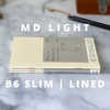 MD LIGHT Notebook // B6 Slim (pack of 3)