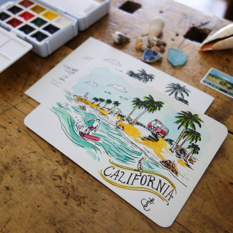 BKxTSL Postcards / California