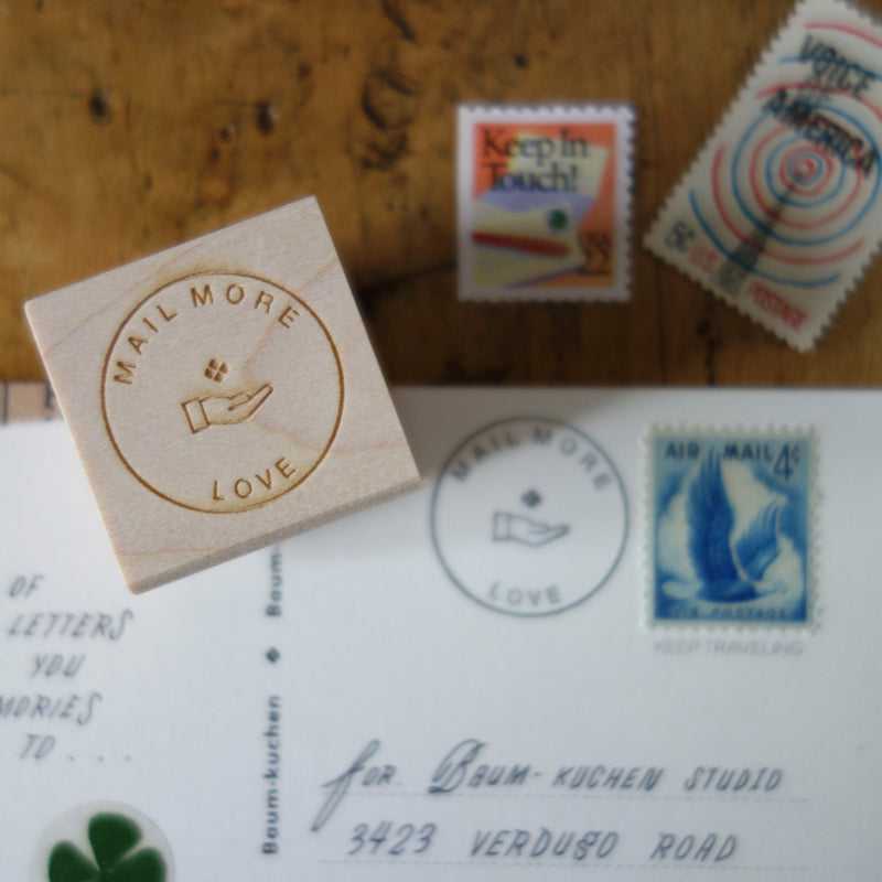 """mail more LOVE"" stamp"
