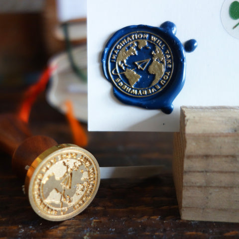 "Wax Seal Stamp ""imagination will take you everywhere"""
