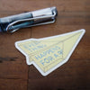 """Paper Airplane"" brass mini charm"