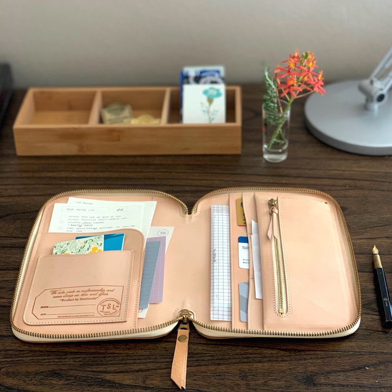 Leather Zip Organizer // Yellow [PRE-ORDER]