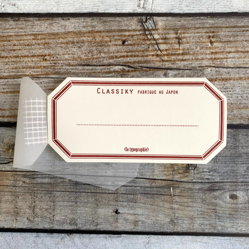 Letterpress Gummed Label