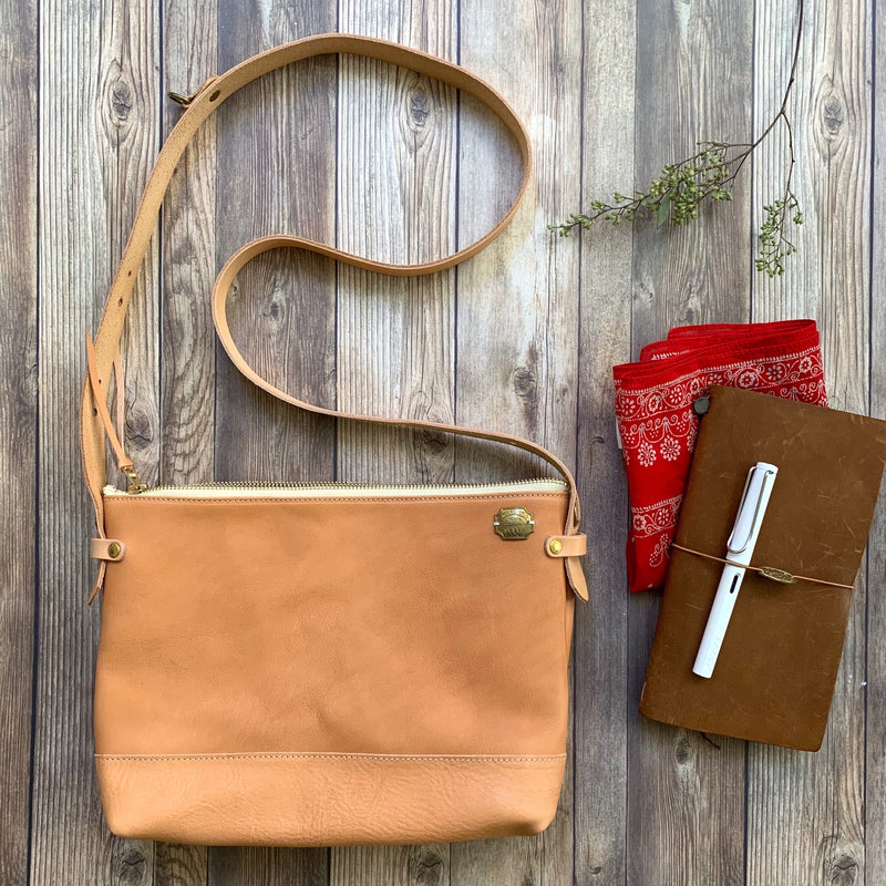 TSL All Leather Shoulder Bag Large // Nude [PRE-ORDER]