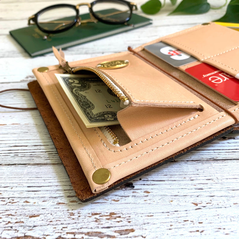 PASSPORT Travel for Life Wallet // All Leather with Gussets