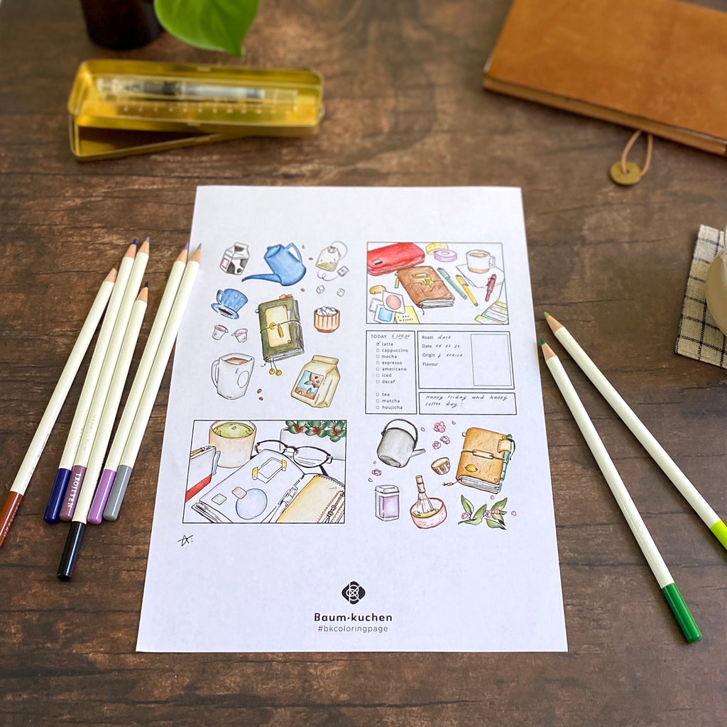 BK Coloring Page // Journaling Time (PDF Download)