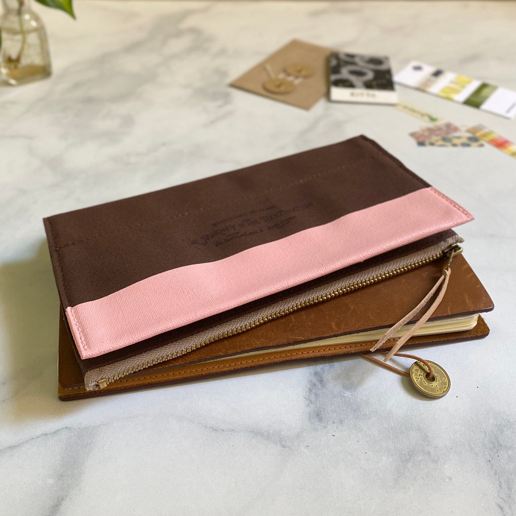All Canvas Wallet // Strawberry Chocolate
