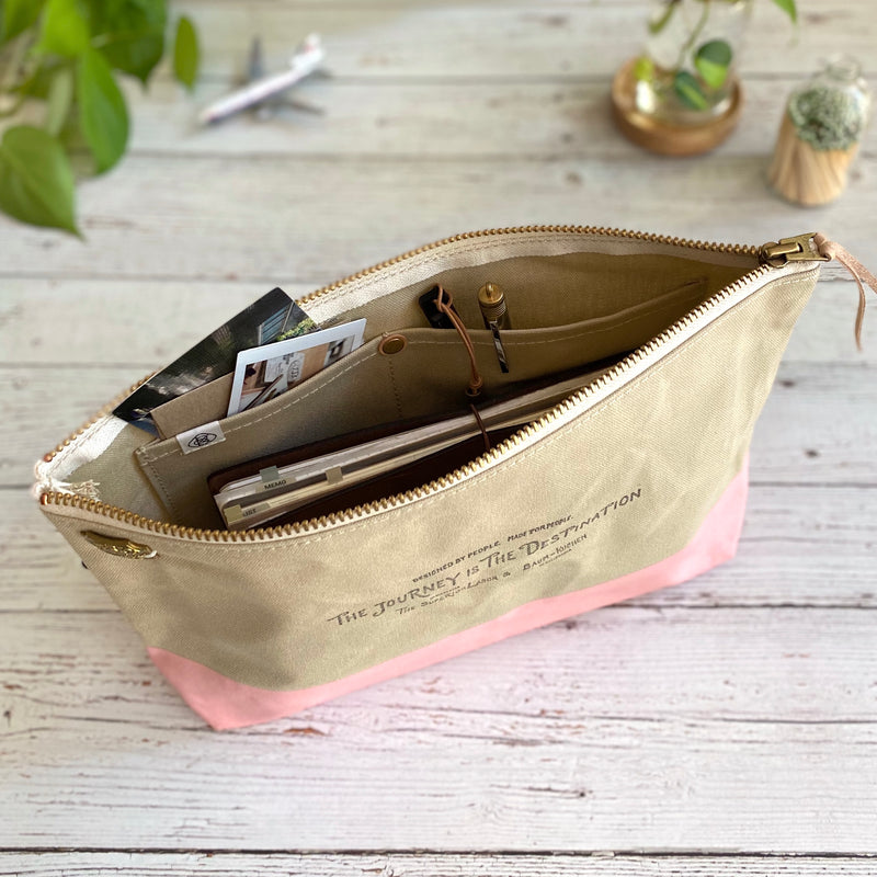 Engineer Pouch w/ Pockets || Rose Latte
